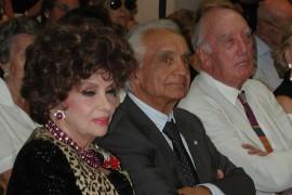 Gina Lollobrigida, Antonino Zichichi e Rolly Marchi Premio Cornaro 2003